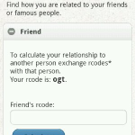Family Seek mobile app friend code