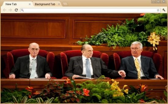 LDS Church First Presidency Chrome Theme