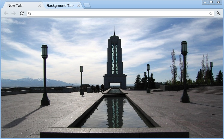 LDS General Conference Center Chrome Theme