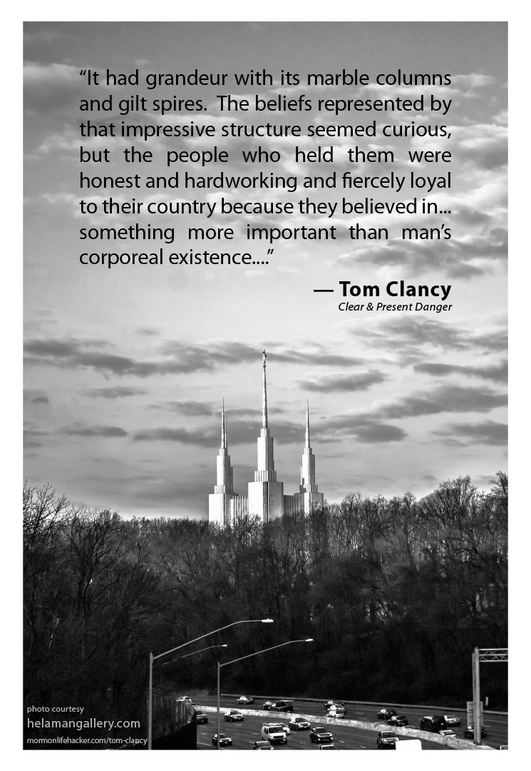 What Tom Clancy Had To Say About Mormons The Temple Mormon Life
