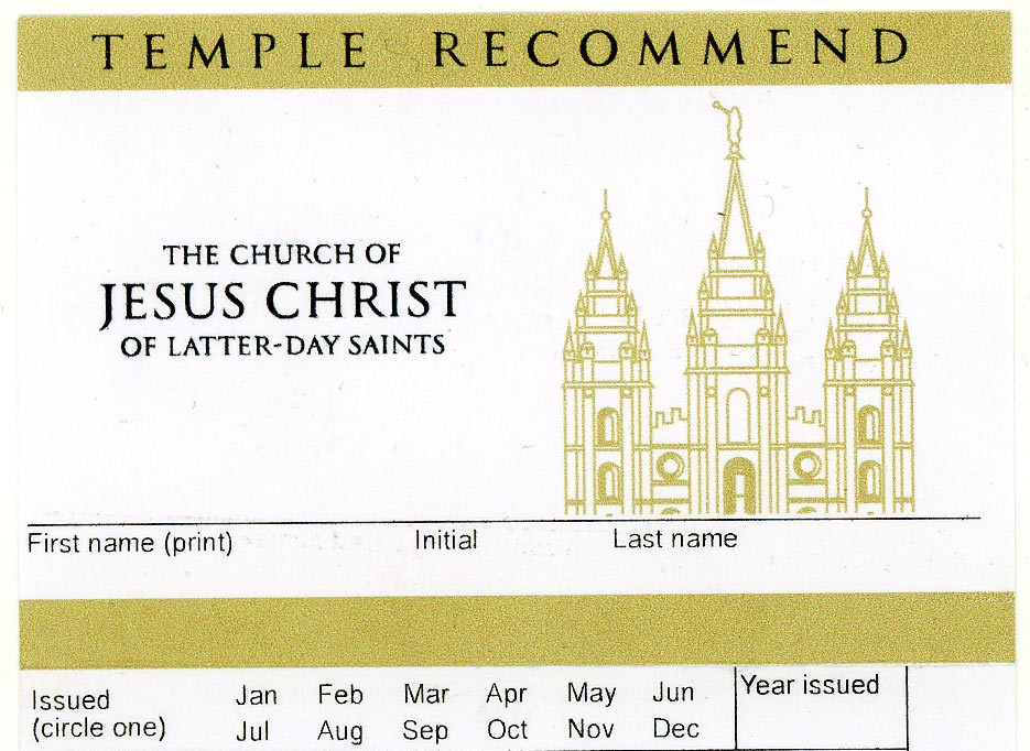 Never Forget to Renew Your Temple Recommend Again