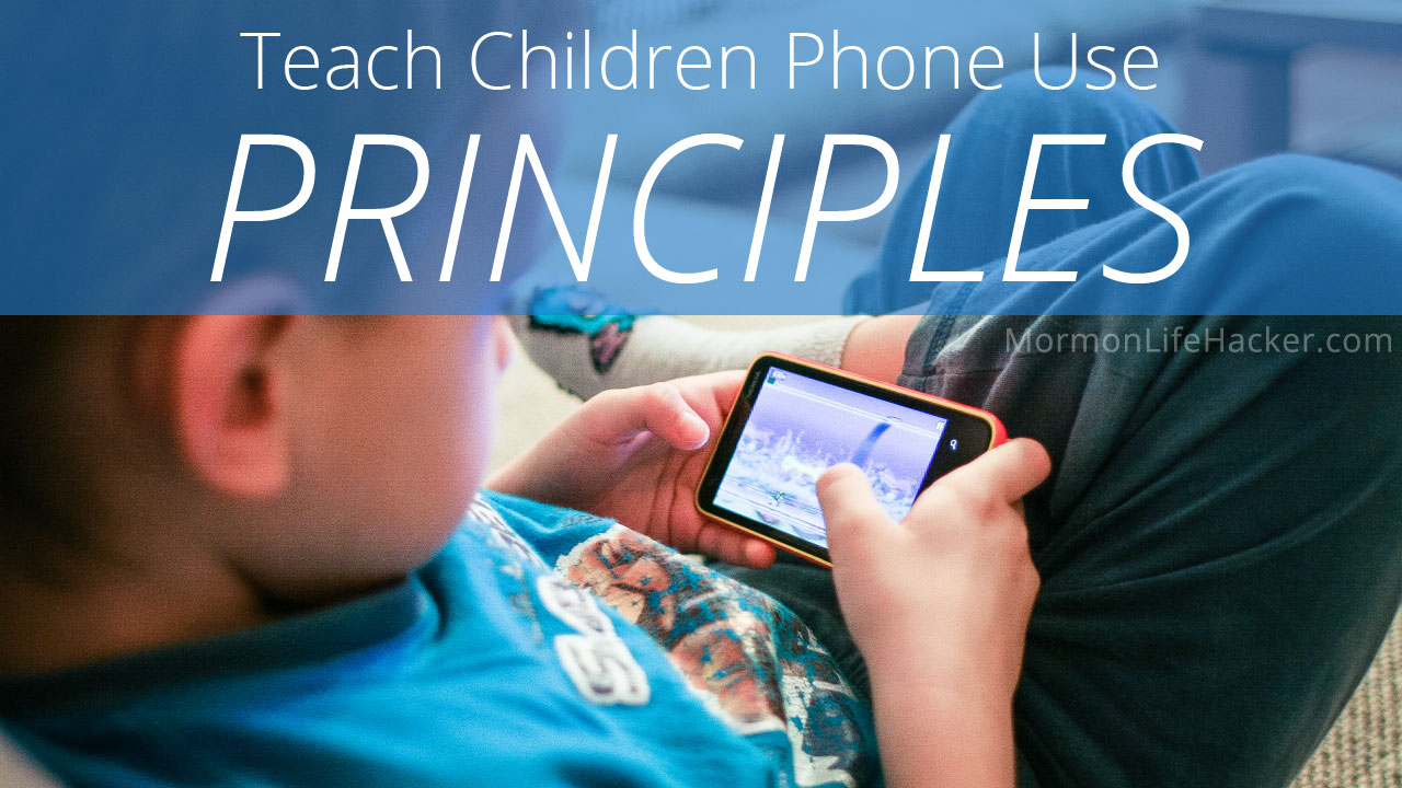 teach children phone use principles contract