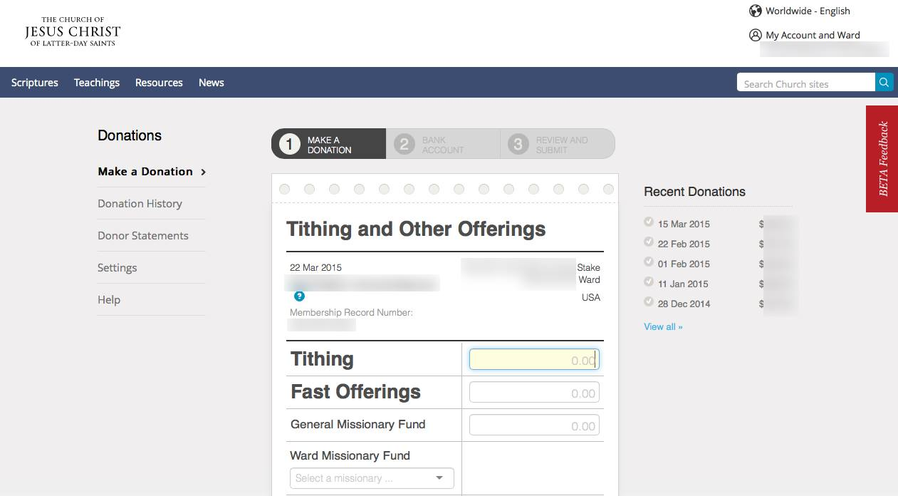 Lds tithing slip online dating