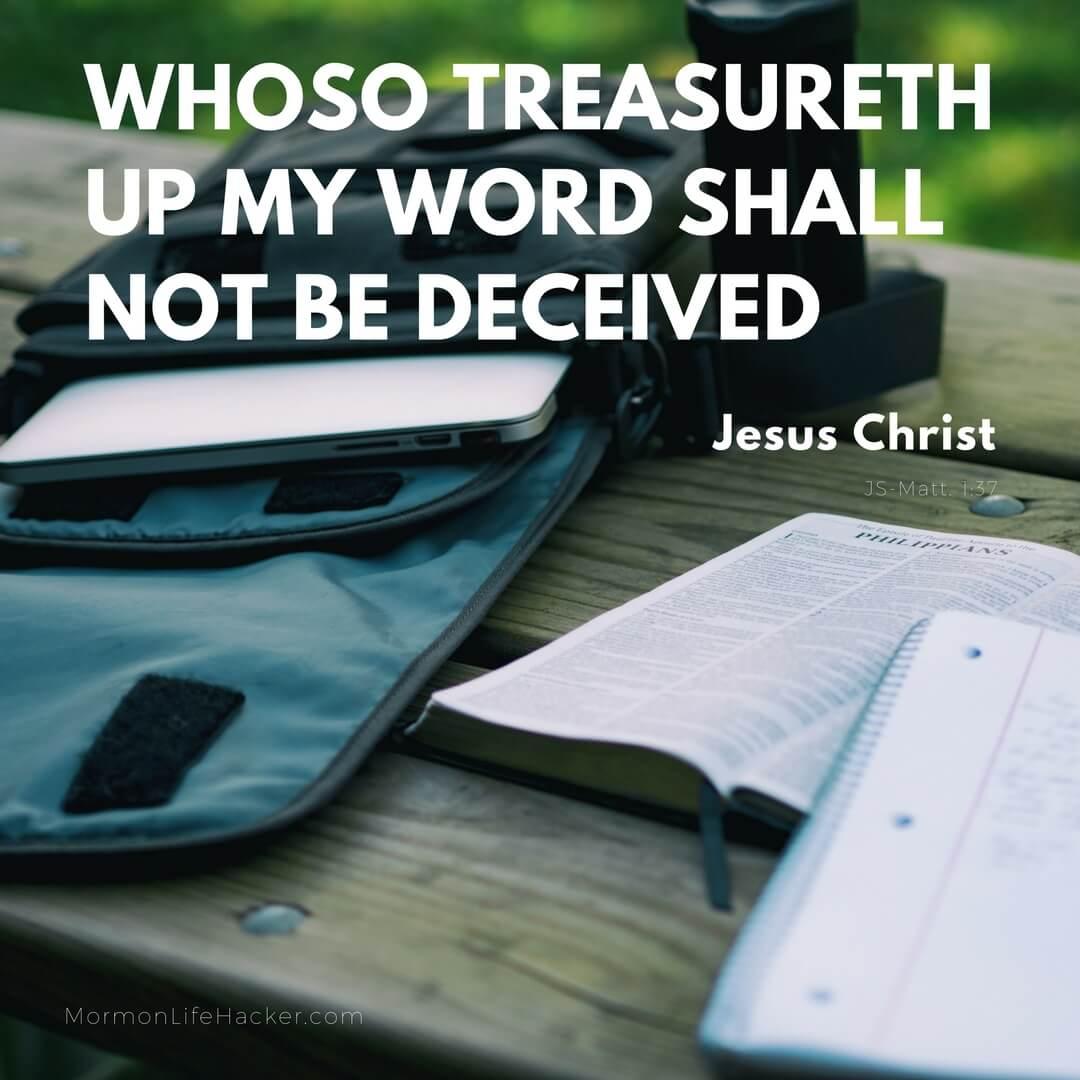 Whoso treasureth up my word christ