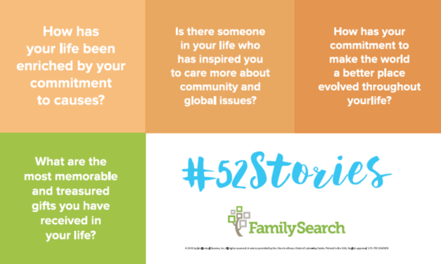 Personal History Hack: Write it in 52 weeks using FamilySearch's #52Stories