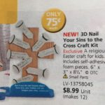 3D Nail Your Sins to the Cross craft kit (Is this a good idea from Primary-aged kids?)