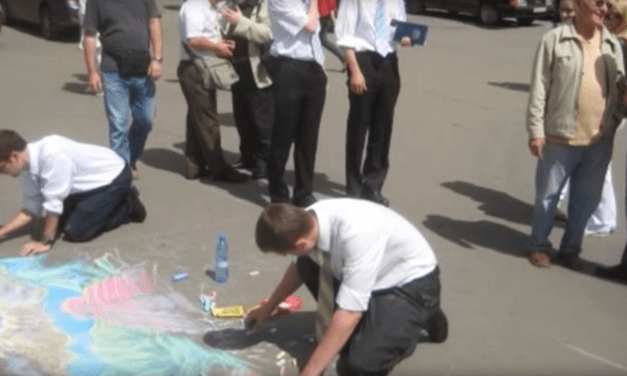 Can you imagine this unique form of street art being used by missionaries around the world?