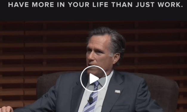 Watch Mitt Romney explain why you should measure your life by the things that count the most to you